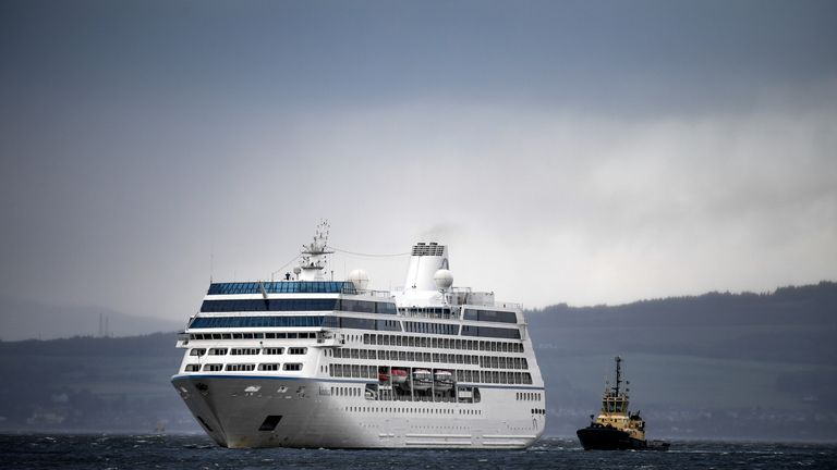 Tugs had to rescue the cruise liner Nautica after it slipped its moorings in Greenock, Scotland