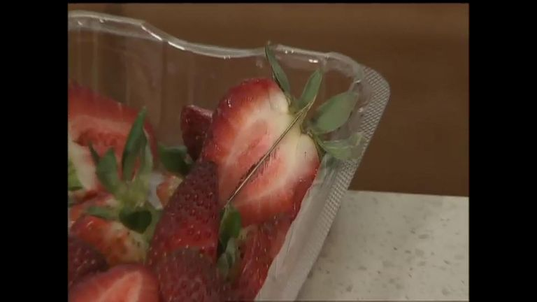 Needles have been reportedly found in punnets of strawberries