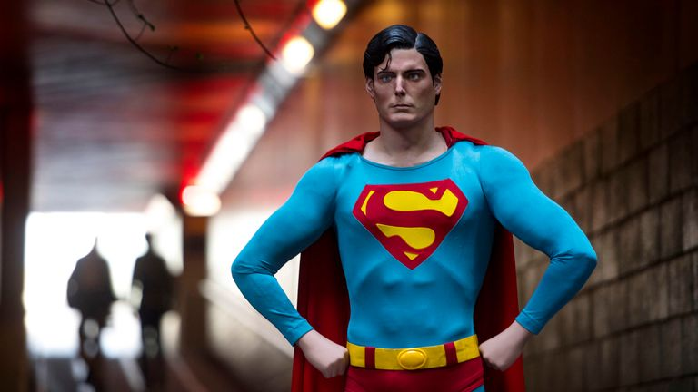 A Superman costume used by Christopher Reeve in Superman (1978) and Superman II (1980)