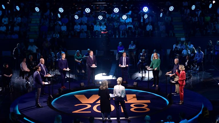 Sweden election debate