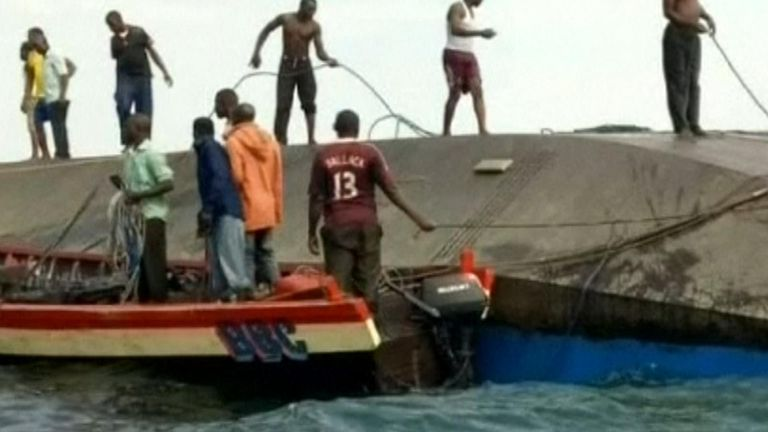 Rescuers search for survivors from sunken ferry in Tanzania