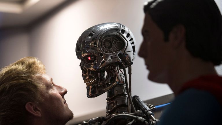 A T-800 Endoskeleton used in Terminator 2: Judgement Day (1991)