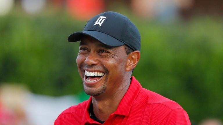Woods confessed he had to hold back the tears on the 18th green