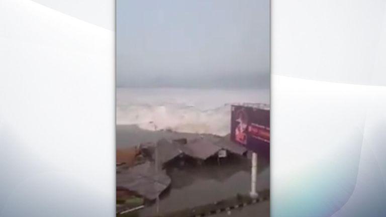 Tsunami hits Palu in Indonesia