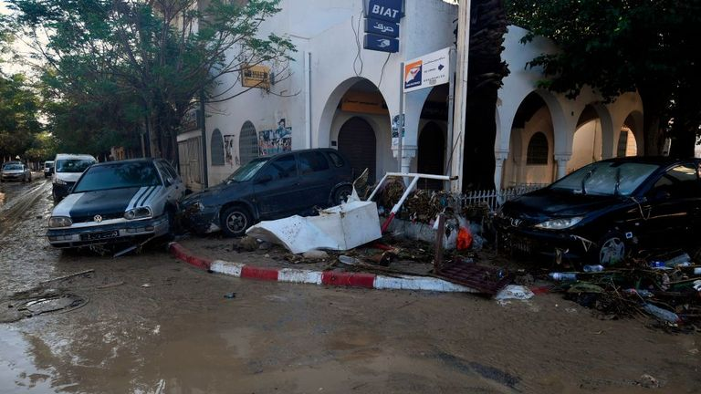 Flash flooding in Tunisia has killed at least four people