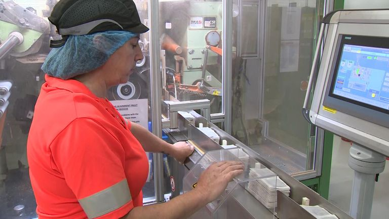 Sky News' Lisa Holland visited Twinings tea firm in Hampshire
