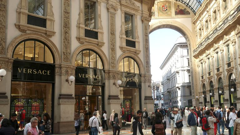 Versace's flagship shop is in Galleria Vittorio Emanuele II in Milan