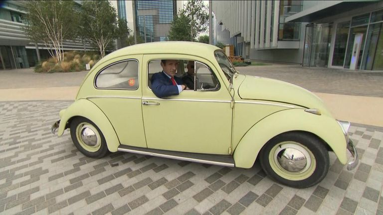 Tom Macleod attempts to drive Volkswagan mini