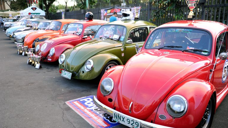 Classic Beetles have been used in racing competitions around the world