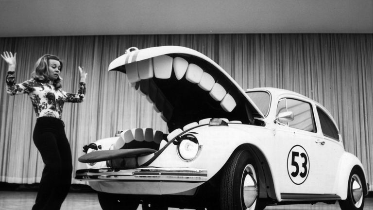 "The 1968 Disney film ""The Love Bug"" helped boost the car's popularity"