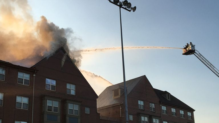 Firefighters reported parts of the ceiling collapsing around them as they tried to rescue people