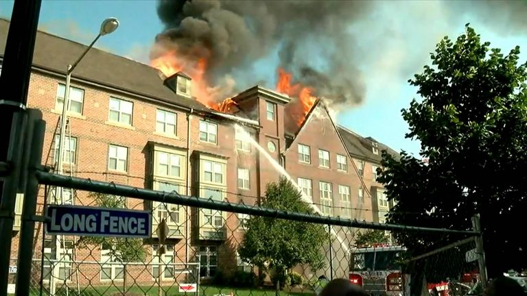 At the time, the fire fighters said everyone was accounted for. Pic: ABC