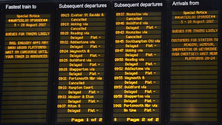 The last time there were so many delays was in 2006