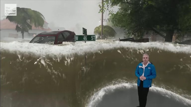 Flooding could reach 9ft in places. Pic: Weather Channel