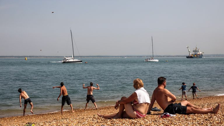 England's temperatures beat the previous record mean temperature of 17C (62.6F) set in 1976