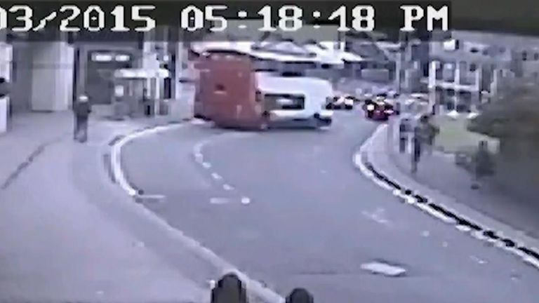 CCTV released showing West Midlands bus crash