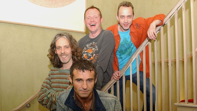 Marti Pellow (front centre) with band members Tommy Cunningham, Neil Mitchell, and Graeme Clark