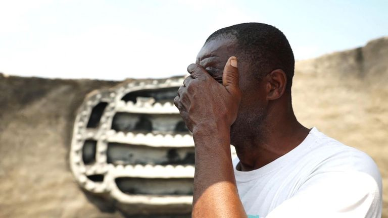 David Chamanga had his home burnt down on the eve of election day