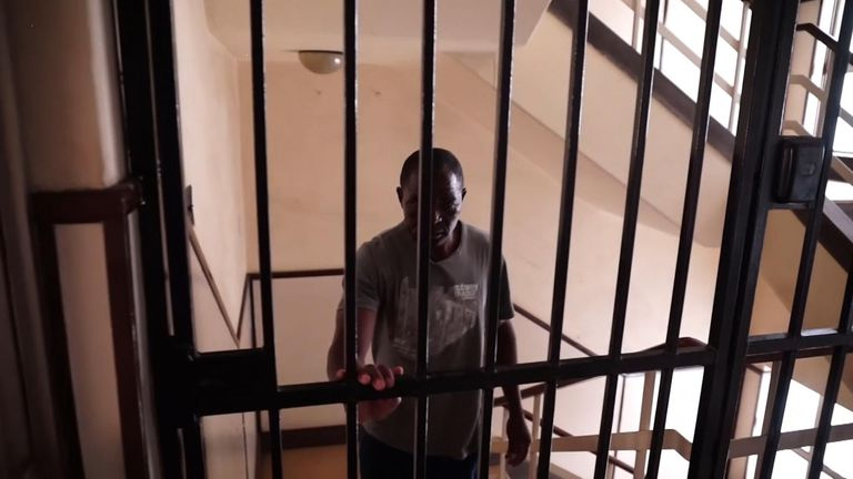 David is living at a safe house in Harare