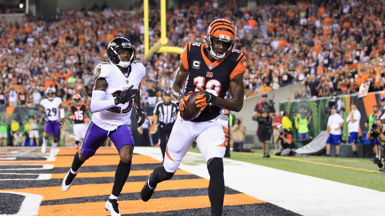 1:28                                               Watch A.J. Green's touchdown hat-trick