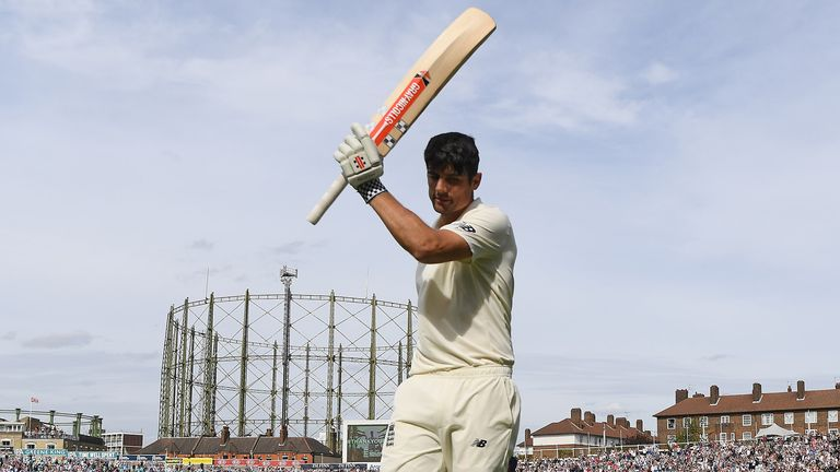 Cook received one of many fine ovations after he fell for 147