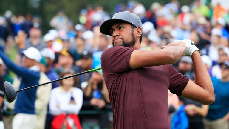 during the third round of the BMW Championship at Aronimink Golf Club on September 8, 2018 in Newtown Square, Pennsylvania.