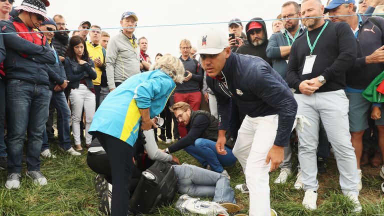 Spectator struck at Ryder Cup loses sight in eye