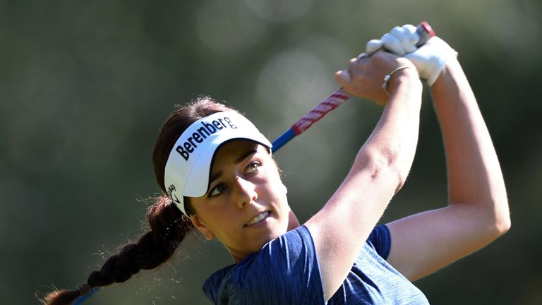 Georgia Hall five back as Amy Olson leads Evian Championship