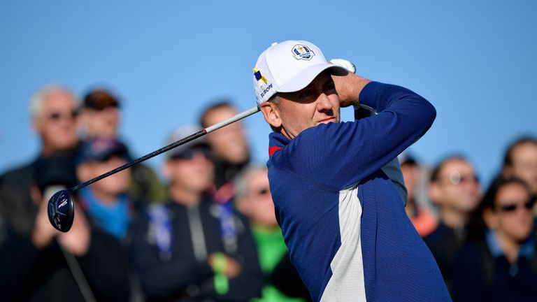 Ian Poulter ahead of the 2018 Ryder Cup at Le Golf National on September 25, 2018 in Paris, France.