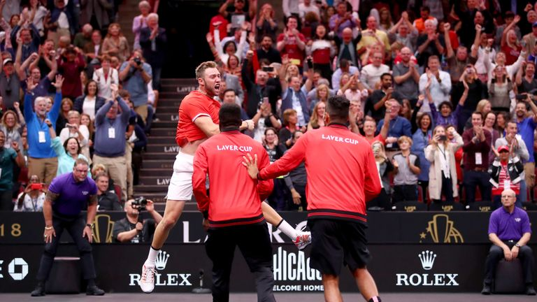 The best of the action as Jack Sock and John Isner beat Roger Federer and Alexander Zverev in an epic contest