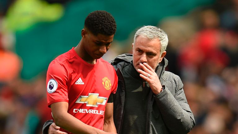 Jose Mourinho brings statistics to press conference to silence Marcus Rashford claims