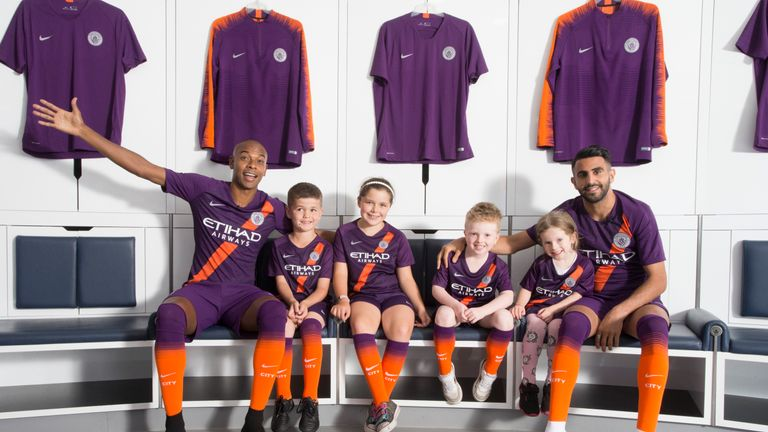 on sale 814a4 acf20 Manchester City launch new third kit by surprising kids ...