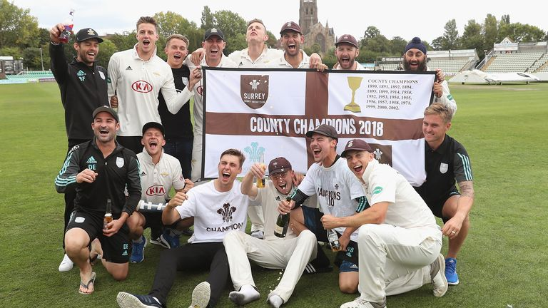 Surrey's director of cricket Alec Stewart says the club's young players have played a key part in their County Championship success.
