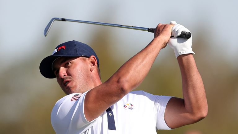 Team USA's Brooks Koepka during the Foursomes match on day two of the Ryder Cup at Le Golf National, Saint-Quentin-en-Yvelines, Paris.