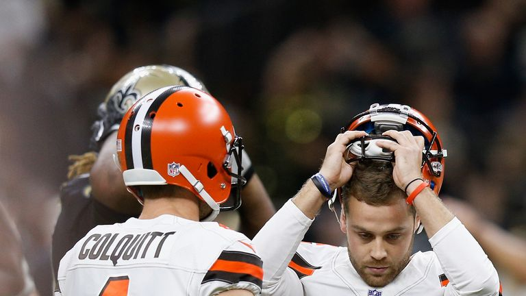 Zane Gonzalez was kicking with groin injury Sunday, Browns sign new kicker