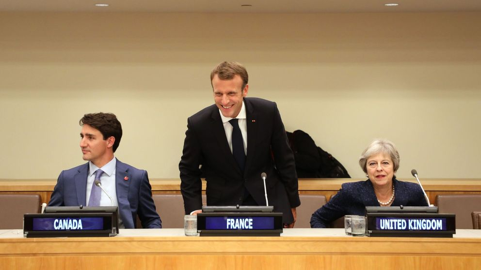 Justin Trudeau, Emmanuel Macron and Theresa May co-hosted an event about girls' education