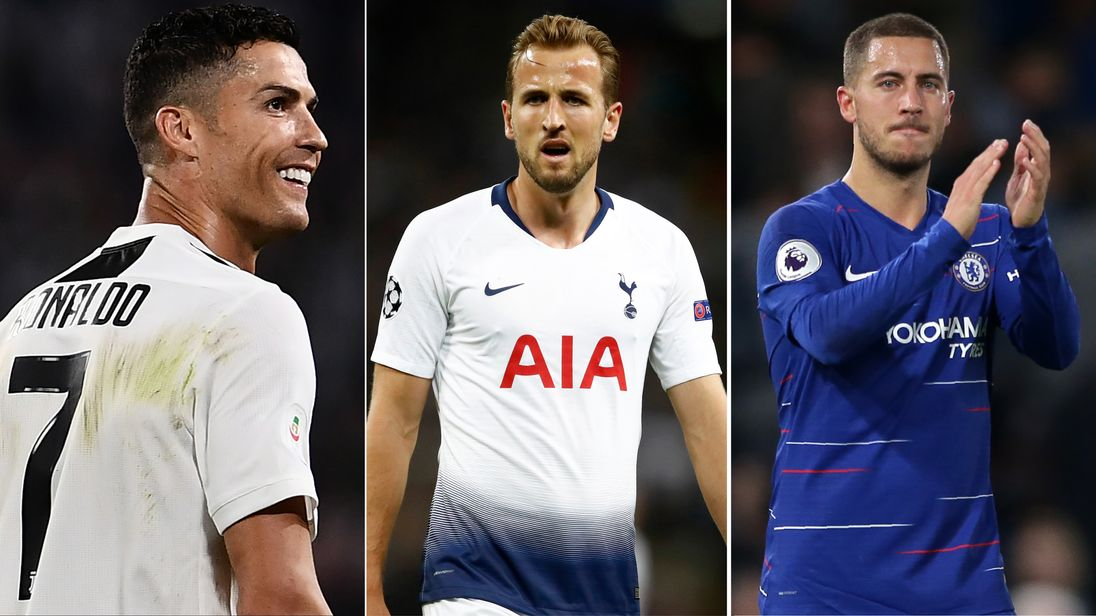 Cristiano Ronaldo Harry Kane and Eden Hazard are on the 2018 Ballon d'Or shortlist