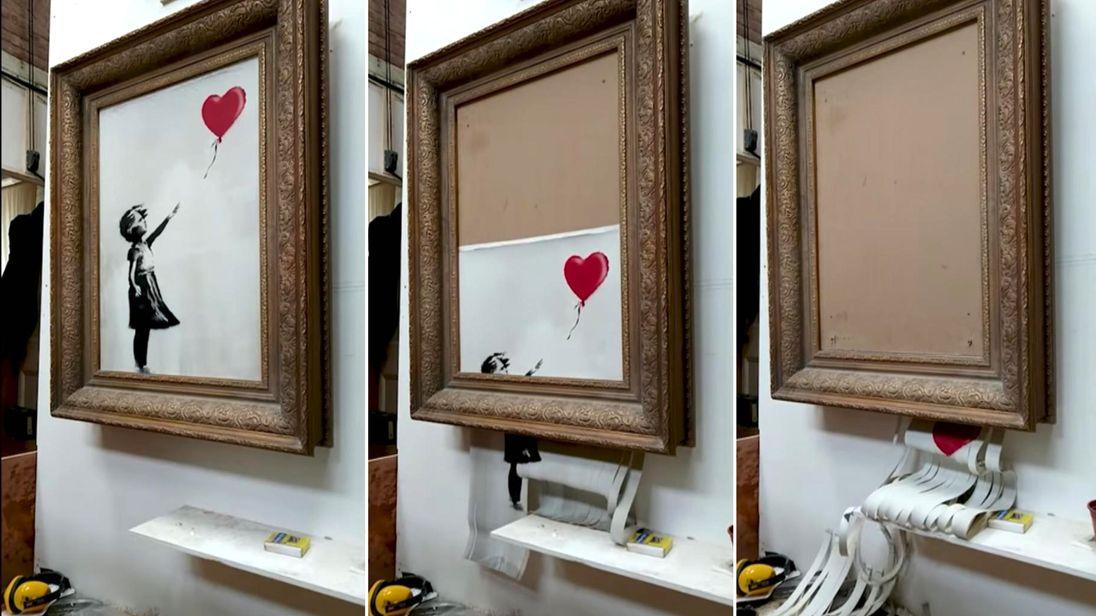 Banksy video sheds light on planned artwork malfunction