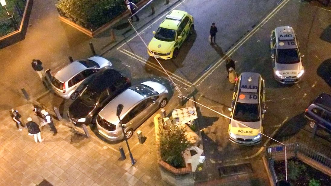 Police at the scene at the Doddington Estate in Battersea
