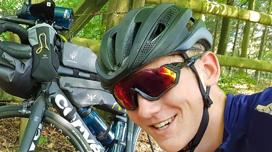 Charlie Condell has bike stolen during round the world cycle challenge