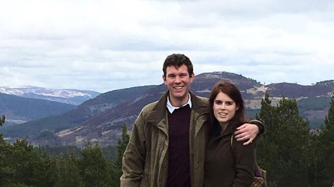 Eugenie and Jack in Balmoral in 2016