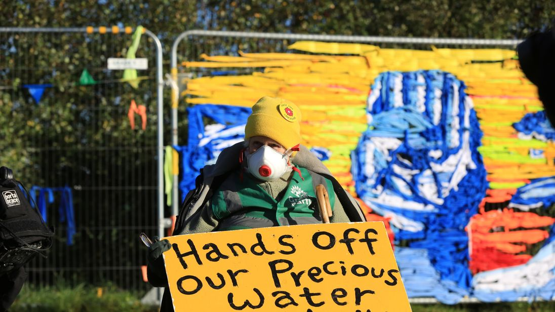 fracking for shale gas begins in lancashire amid protests