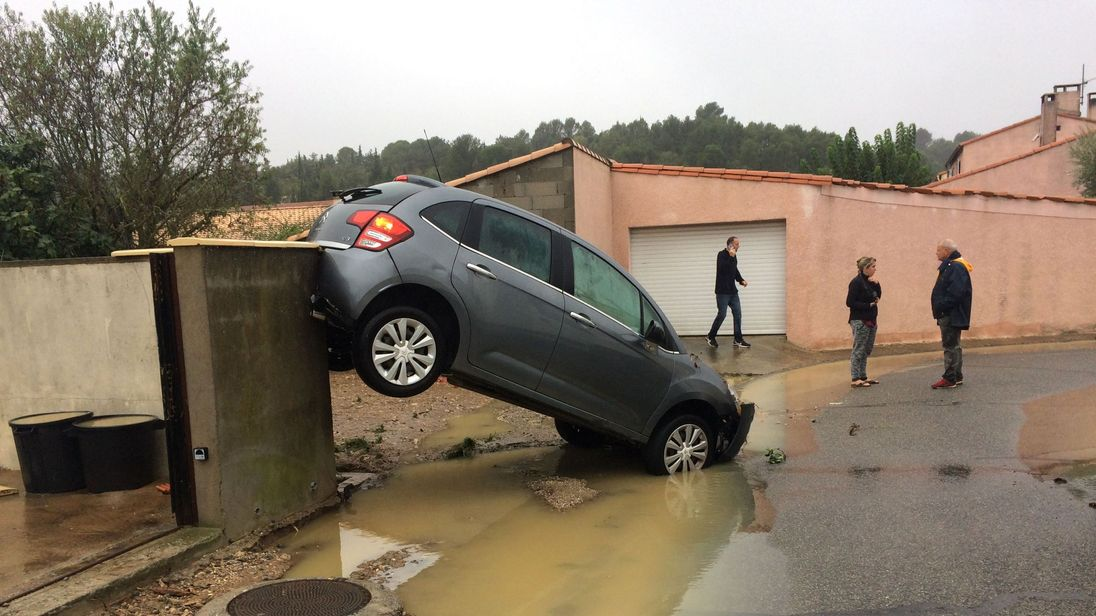 At least six people killed in flashfloods in southern France, waters rising
