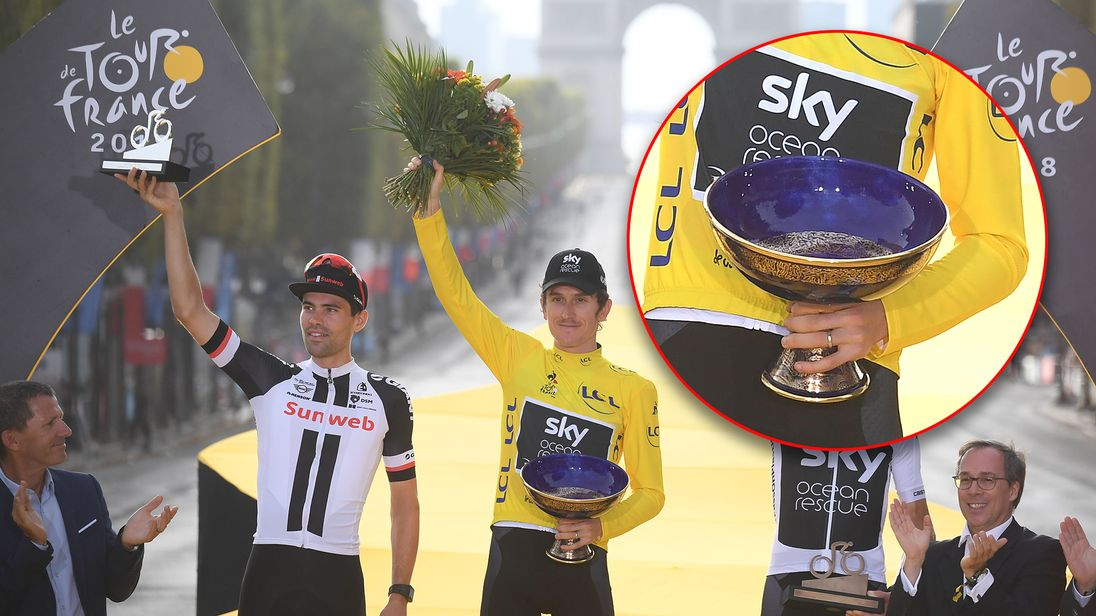 Geraint Thomas' Tour de France trophy stolen during UK tour