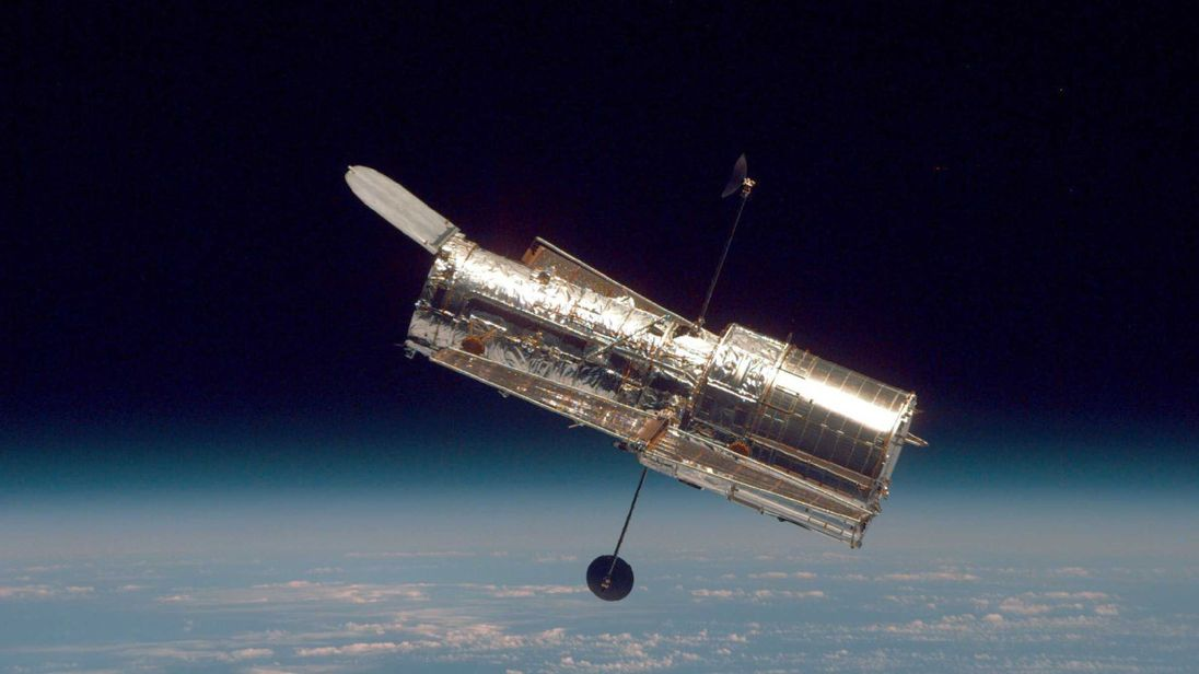 IN SPACE In this handout from the National Aeronautical Space Administration, the Hubble Space Telescope drifts through space in