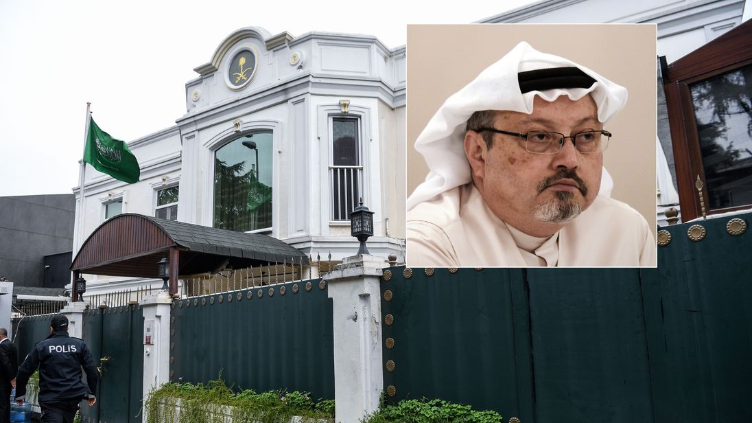 Jamal Khashoggi and the Saudi consul's official residence in Istanbul