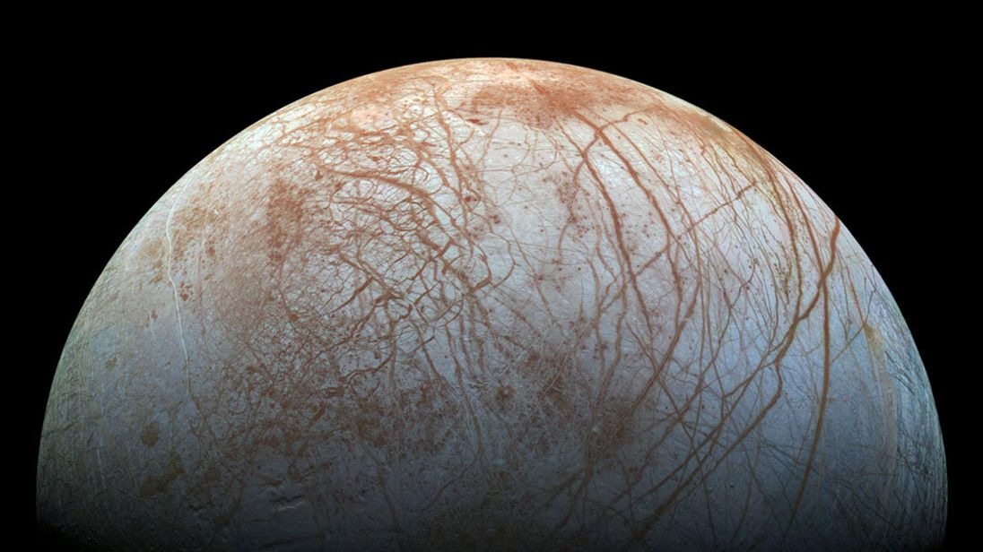 Space mission warning: the sharp ice on Jupiter's moon Europa