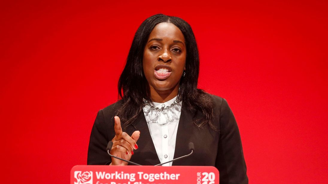 Shadow Secretary of State for International Development Kate Osamor speaks during the second day of the 2016 Labour Party conference in Liverpool.