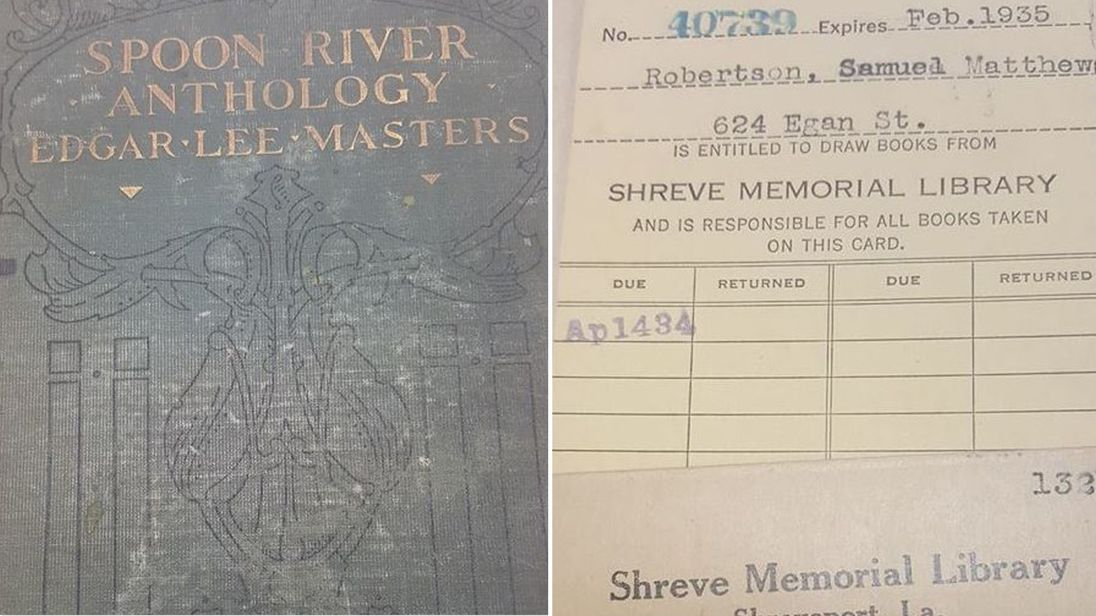 The Spoon River Anthology was returned 84 years later. Pic: Shreve Memorial Library