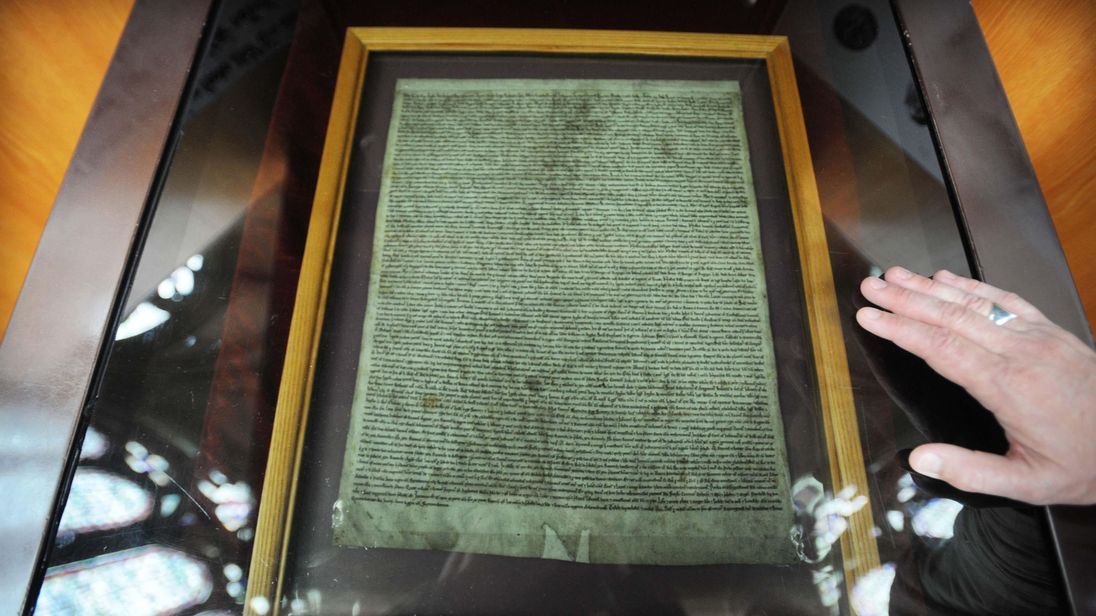 Man arrested over attempted theft of Magna Carta from Salisbury Cathedral